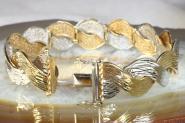 Armband Gold 585 bicolor 18,5 cm