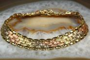 Armband Gold 585 tricolor 19 cm