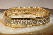 Armreif Gold 585 bicolor