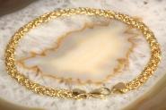 Königsarmband flach Gold 333 21 cm