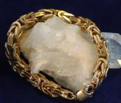 Königsarmband Silber 925. Massiv. Hart vergoldet.