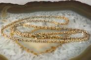 Königskette Gold 585 bicolor 52 cm