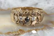 Ring Gold 585 Saphir & Zirkonia