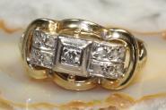 Antiker Diamantring Gold 585 0,12 ct