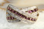 Diamant Amethyst Ring Gold 585