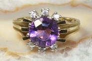 Amethyst Ring Gelbgold 585