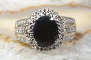 Saphir Ring mit Diamanten Gelbgold 585