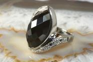 Ring Onyx Diamanten Silber 925