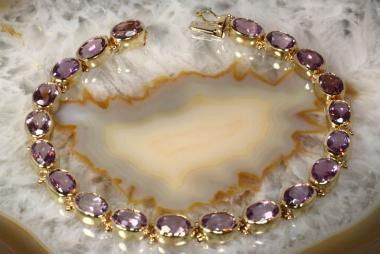 Amethyst Armband Gold 585