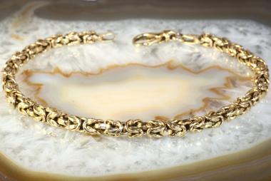 Königsarmband Gelbgold 585 20,5 cm
