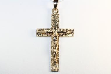 Jesus Kreuz Anhänger Korpus Gold 585
