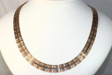 Collier tricolor Gold  333 45 cm