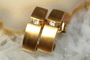 Brillant Halb-Creolen Gold 750