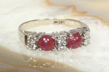 Rubin Ring mit Brillanten Gold 585