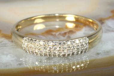 Diamantring Gelbgold 585 0.25 ct