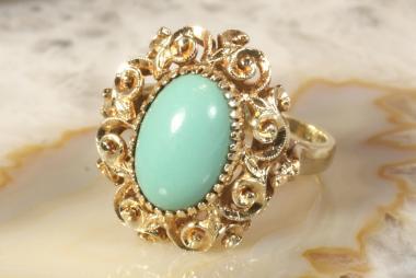 Türkis Ring Gold 585