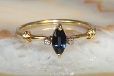 Ring Saphir Diamanten Gold 750