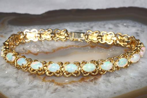 Opal Armband Gold 585 18 cm