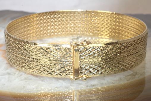 Armband Gold 585 19 cm Milanaise
