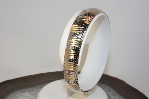 Armreif Bicolor oval Gold 585