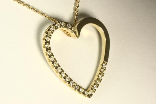 Brillant Herz Anhänger 0,50 ct. Gold 585