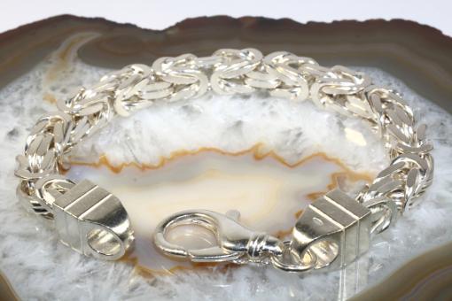 Königsarmband Silber 925 massiv, 22 cm