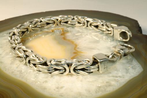 Königsarmband Silber 925 massiv, 23,5 cm