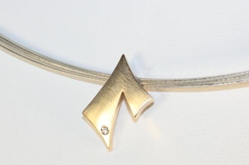Collier Anhänger Gold 585 & Halsreif Silber 925
