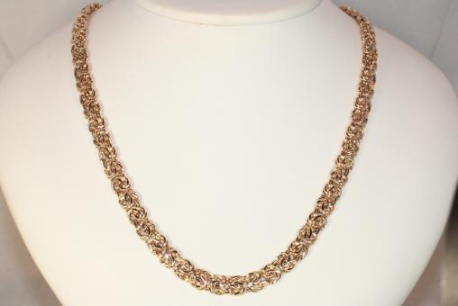 Königskette flach Brillanten Gold 585
