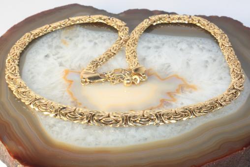 Königskette Collier flach Gold 585