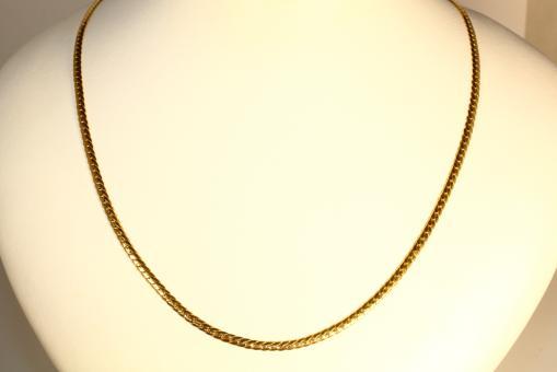 Flachpanzerkette Gelbgold 585 46 cm