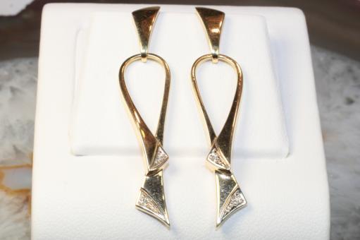Ohrhänger Diamanten Gelbgold 585