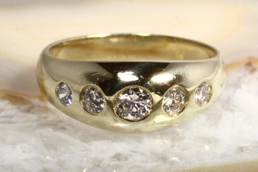 Ring Gold 585 mit 5 Brillianten