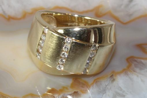 Brillantring Gold 585  W/SI 0,31 ct