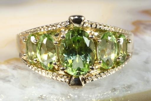 Peridot Ring Gold 585
