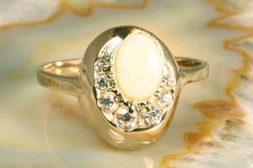 Ring Opal & Zirkonia  Gold 583