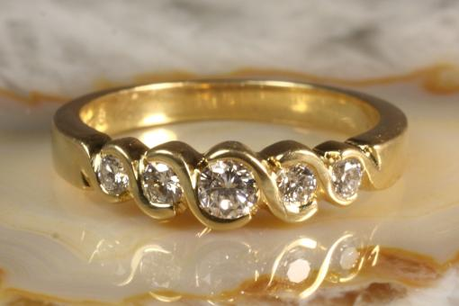 Brillantring Gold 585 0,25 ct