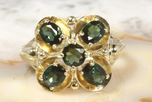 Turmalin Ring Gold 585 Gold