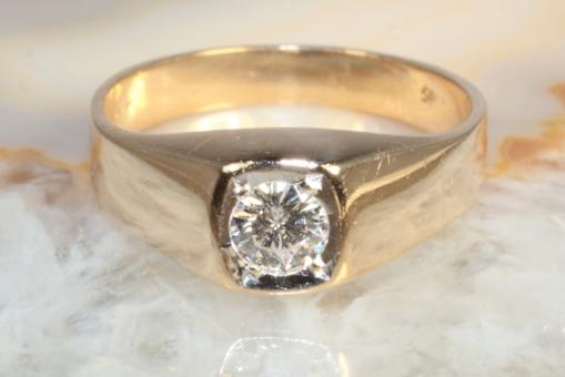 Brillantring ca. 0,30 ct Gelbgold 585