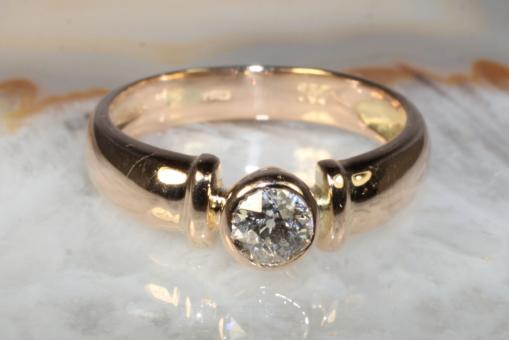 Diamantring 0,36 ct. Gelbgold 750
