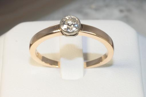 Diamantring 0,38 ct Gelbgold 585