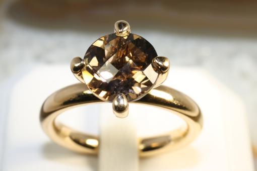 Wempe Ring Rauchquarz Gelbgold 750