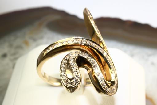 Christ Schlangenring Diamanten Gelbgold 585