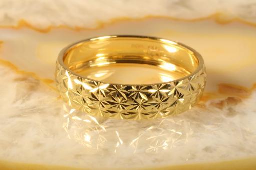 Bandring diamantiert Gelbgold 585