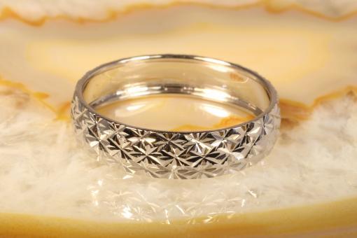 Bandring diamantiert Weißgold 585