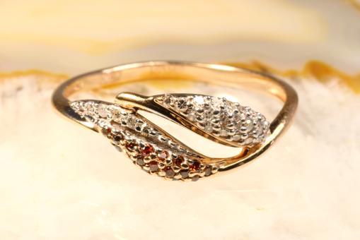 Diamantring 0,15 ct. Roségold 585