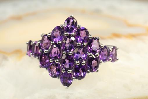 Amethyst (Sambia)  Ring Silber 925