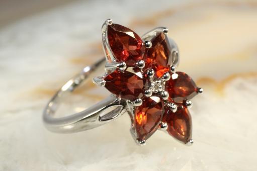 Granat Ring Silber 925