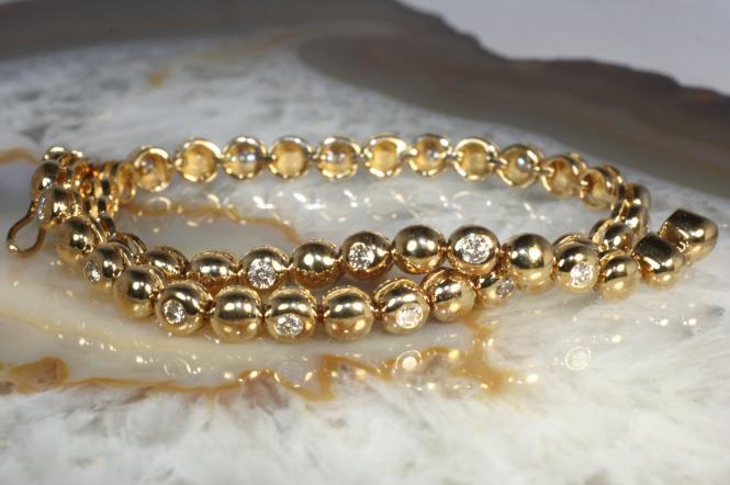 Tennisarmband Brillanten Gold 585