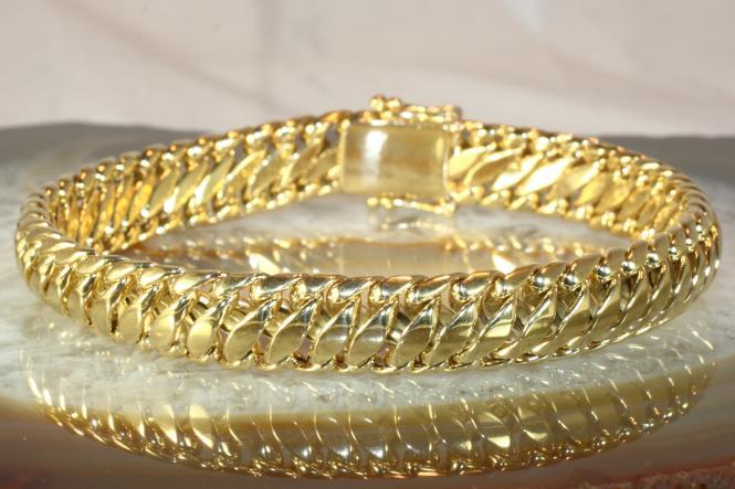 Schlangen Armband Gold 585 20 cm